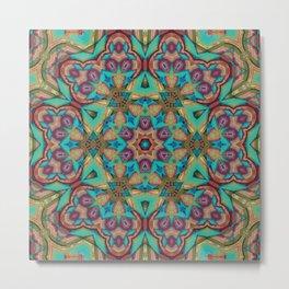Vibrant Pattern Metal Print