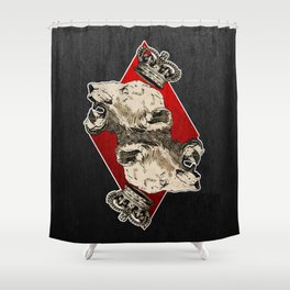 King of Diamonds Shower Curtain