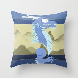 Silly Bestiary: East Asian Dragon Throw Pillow
