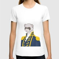 ferret T-shirts featuring Captain Ferret by Szilárd A Legjobb