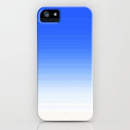 Sky Blue White Ombre iPhone Case