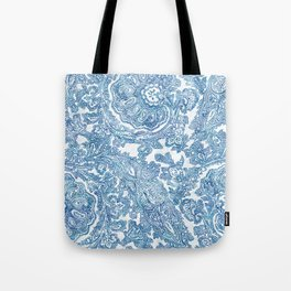 Blue Boho Paisley Pattern II Tote Bag