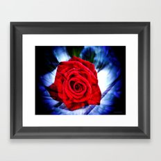 Rose And Piano Love Song By Annie Zeno  Framed Art Print