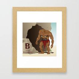 B is for Blemmye Framed Art Print