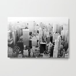 Ghost City Metal Print