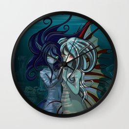 Fantasy style Anime / Manga mermaids Wall Clock