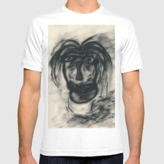 Disheveled MEDIUM Mens Fitted Tee White