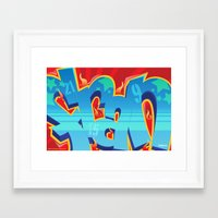 crossfit Framed Art Prints featuring Crossfit (WOD) Poster - FRAN by Blur 116th
