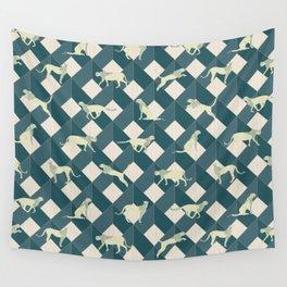 Geometric Safari Wild Leopard Animal Wall Tapestry