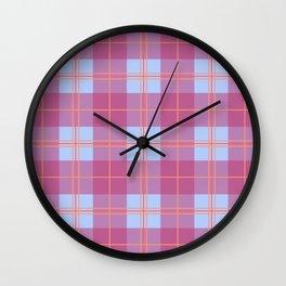 Plaid 05 Wall Clock