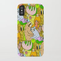 sloths iPhone & iPod Cases featuring Sloths by Vincy Cheung