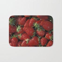 Bushel of Strawberries  Bath Mat