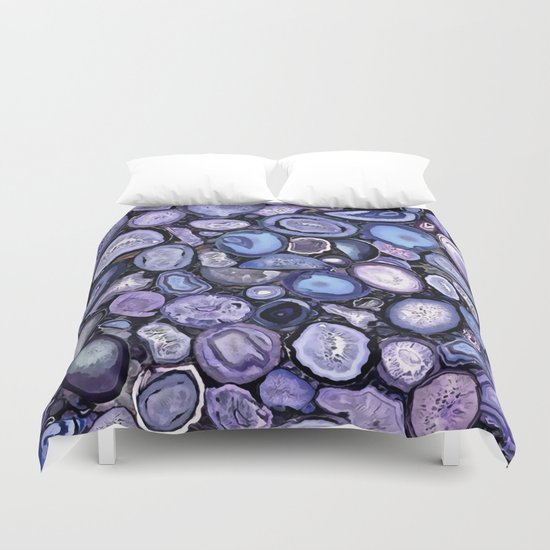 Agate crystals Duvet Cover