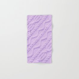 Lavender Purple Cableknit Sweater Hand & Bath Towel