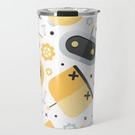 Attack of the Robots: Yellow Travel Mug