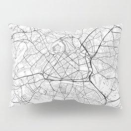 Lille Map White Pillow Sham