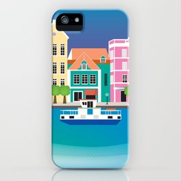 Curacao - Skyline Illustration by Loose Petals iPhone Case