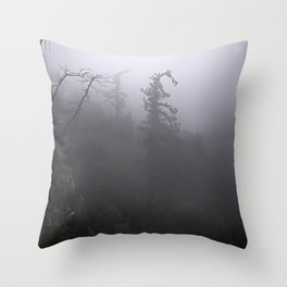 Fog in the crest Throw Pillow