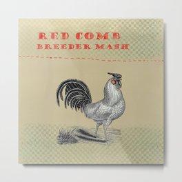 rooster feedsack image Metal Print