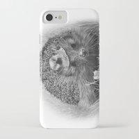 hedgehog iPhone & iPod Cases featuring Hedgehog by MARIA BOZINA - PRINT