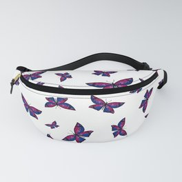 Fly With Pride: Bisexual Flag Butterfly Fanny Pack