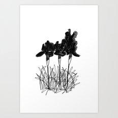 Dark Iris Art Print