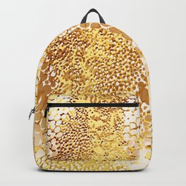 gush of dots in yellow Backpack