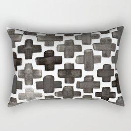 Black & White Crosses - Katrina Niswander Rectangular Pillow