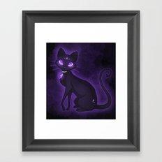 Purple Eyed Cat Framed Art Print