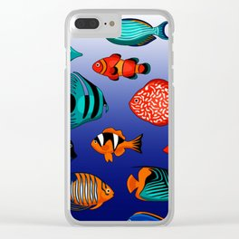 Peces tropicales Clear iPhone Case