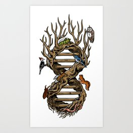 Infinitree of Life Art Print