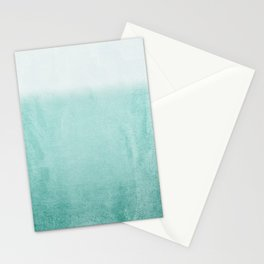 FADING AQUA Stationery Cards