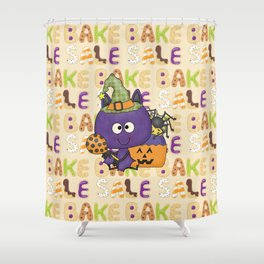 Little Batty Halloween Bake Sale Shower Curtain
