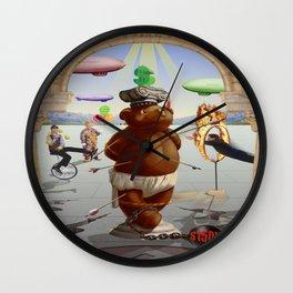 Master of Fine Arts Teddy Wall Clock