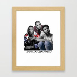 Gambino Kendrick and Cole Framed Art Print