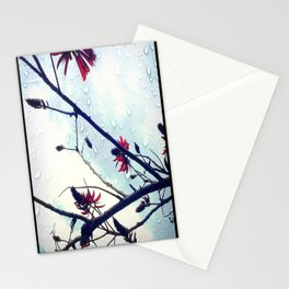 Coral Tree in Rain Stationery Cards