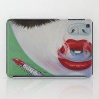 lipstick iPad Cases featuring Lipstick by Sahara Novotny