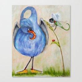 Gourd Bird & Dragonfly Canvas Print