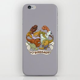 I Heart Dinosaurs iPhone Skin