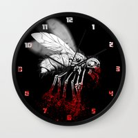 politics Wall Clocks featuring INSECT POLITICS by BeastWreck