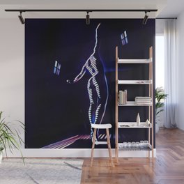 7104s-MM_2026 in Blue Dancing Figure Striped Abstract Nude Woman Wall Mural
