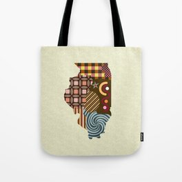 Illinois State Map Tote Bag