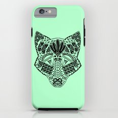 Mint Wolf Head Tough Case iPhone 6