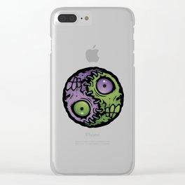 Zombie Yin-Yang Clear iPhone Case