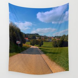The end of the village | landscape photography Wall Tapestry
