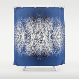 Silhouetted tree pattern Shower Curtain