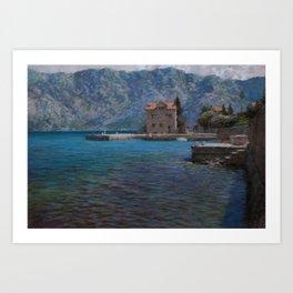 Montenegro. Kotor bay Art Print