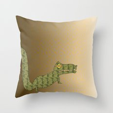 Croc Throw Pillow