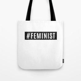 Hashtag Feminist Grunge Tote Bag