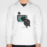 tv Hoodies featuring TV by BUBUBABA